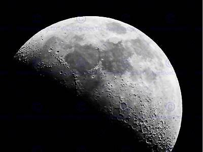 Nature Landscape Moon Crater Black White Poster Art Print Home Picture Bb1454B