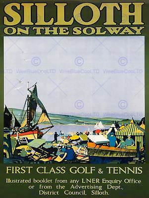 Vintage LMS Nairn Moray Firth Railway Poster A4//A3//A2//A1 Print