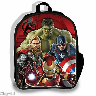 Marvel Avengers 3D Rucksack Age Of Ultron Boys Backpack Thor Iron Man Hulk Bag
