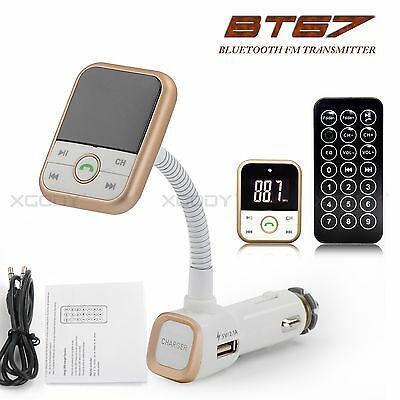 Bluetooth FM Transmitter Charger Handsfree Car Kit Remote Control SD/MP3 Player