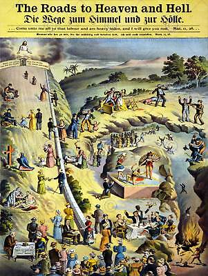 Allegory Religious Text Metaphor Unknown Road Heaven Hell Poster Print Bb12738B