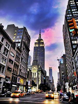 New York Empire State Building Photo Art Print Poster Picture Bmp1303B