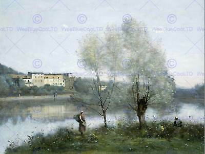 Camille Corot French Ville D'avray Old Art Painting Poster Print Bb5036B