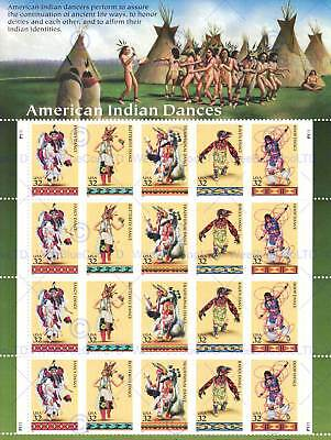 Postage Stamps American Indian Native Dance Usa Art Poster Print Picture Cc6774