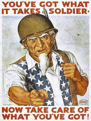 PROPAGANDA WAR UNCLE SAM COUNTING ON YOU KEEP QUIET ART POSTER PRINT LV7121
