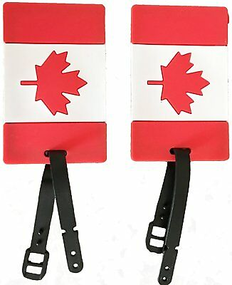 Samsonite Luggage 2-Pack Canadian Flag Luggage Tag Red/white International Ca...