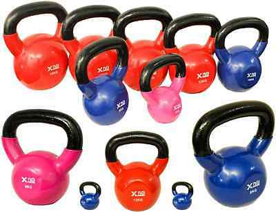 Vinyl Coated Kettle bell 4Kg-18Kg Gym Exercise Weight Training Iron Home Fitness