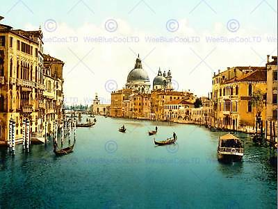 Vintage Photo Travel Grand Canal Venice Italy New Fine Art Print Poster Cc5419