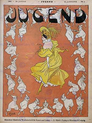 ADVERT CULTURAL MAGAZINE COVER JUGEND WOMEN DANCE POSTER ART PRINT BB4634B