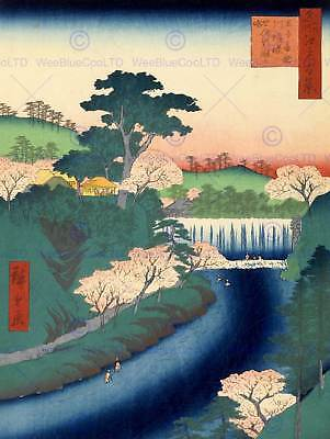 PAINTING JAPANESE WOODBLOCK PRINT VIEW PAGODA RED FINE ART PRINT POSTER CC3461