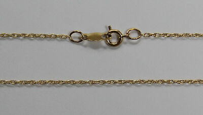 """14Kt 14K Yellow 7"""" 16"""" 18"""" 20"""" 24"""" .95mm Solid Gold Light Weight Rope Chain"""