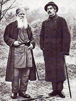 Vintage Photography Gorky Tolstoy Russian Author Poster Art Print Bb3286B
