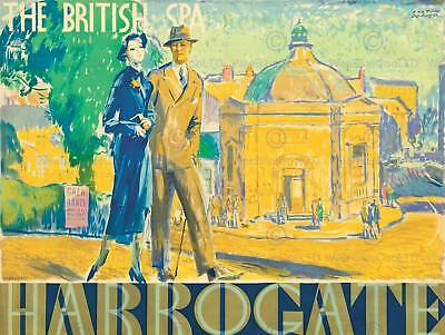 ADVERTISEMENT BRITISH SPA PAINTING HARROGATE ART POSTER PRINT LV353