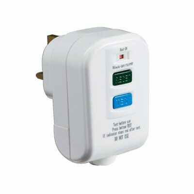 RCD002 - Hard Wired RCD UK 3 Pin Safety Plug - Ideal for Power Tools, Lawnmower