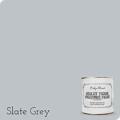 Evelyn Grant Chalky Finish Furniture Paint 1L (Slate Grey) Chalk Paint