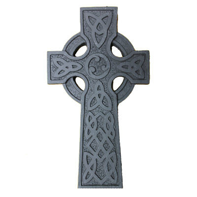 """5"""" Wall Hanging Turf Decoration Celtic Cross With Trinity Knot Design"""