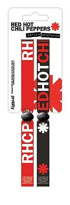 RED HOT CHILI PEPPERS (LOGO) Pack Of 2 Fabric Festival Wristbands BY PYRAMID