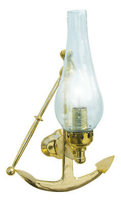 Wand-Lampe - Anker - Messing, lackiert