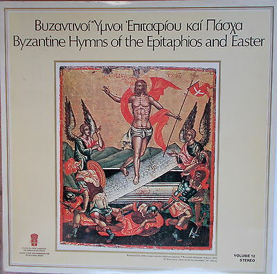 LP -Byzantine Hymns of the Epitaphios and Easter,VG++,gewaschen,Greece Press.
