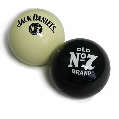 Jack Daniels Cue Ball and Old No 7 Eight Ball Set