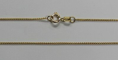 """14Kt Yellow Gold 15"""" 16"""" 18"""" 20"""" .7mm Light Weight Round Wheat Chain Spring Ring"""