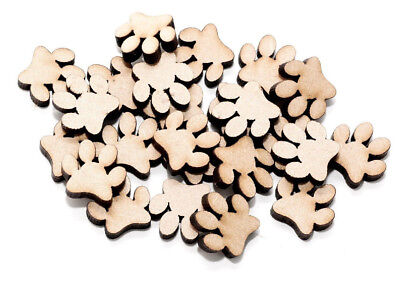 Wooden MDF Paw Shapes Paw Print Shapes Cat Paws Dog Paws Embellishments MDF Paws
