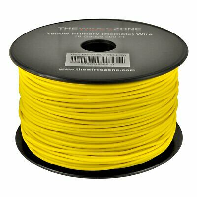 Yellow 18 Gauge AWG 500' Feet ft Stranded Primary Remote Wire Cable