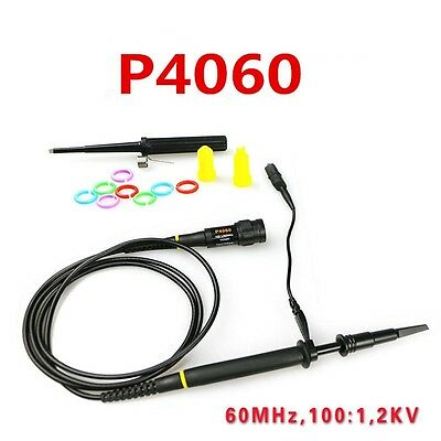 100X P4060 High Voltage 2KV 2000V Oscilloscope Scope Probe 60MHz