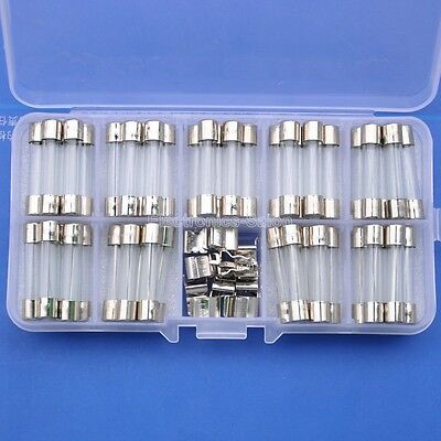 Quick Blow Glass Tube Fuse Assortment Kit, 6x30mm.