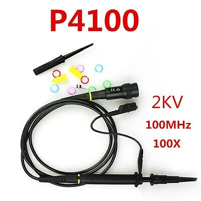 2pcs 100X P4100 High Voltage 2KV 2000V Oscilloscope Scope Probe 100MHz