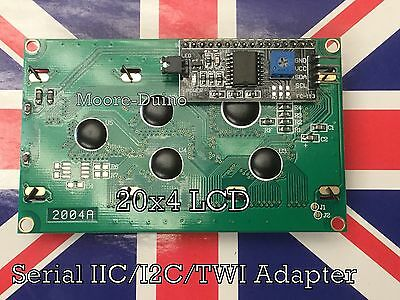 Serial IIC/I2C/TWI 2004 204 20X4 Character LCD Module Display For Arduino Blue C