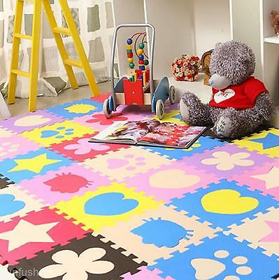 Foam Floor Baby Activity Play Mats Gym Educational Learning Padded Crawling Toy