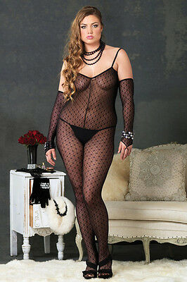 Sexy Bodystocking mit Armstulpen Catsuit Stretchoverall Ouvert Overall Body