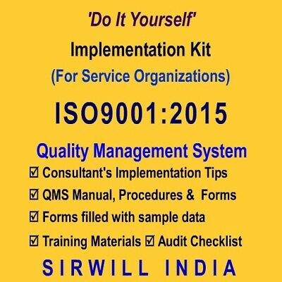 ISO9001:2015 Doc. (Quality Manual, Procedures, Forms) & Training Kit (Service)