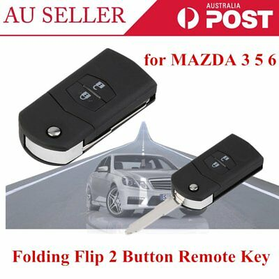 Folding Flip 2 Button Remote Key Fob Case Replace Shell fit for MAZDA 3 5 6 KS