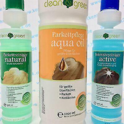 HARO Pflegeset clean & green natural, active und aqua oil - clean and green Set