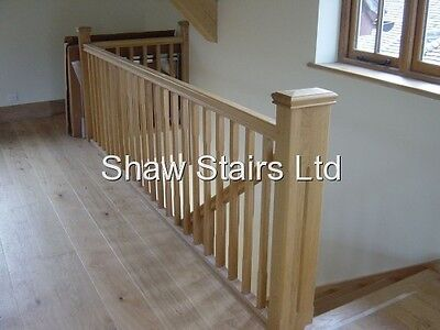 Stairs Landing Refurbishment Pack Handrails Baserail & 32mm Stair Spindles