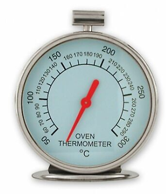 NEW OVEN THERMOMETER Kitchen Temperature Guage Round Face STAINLESS STEEL