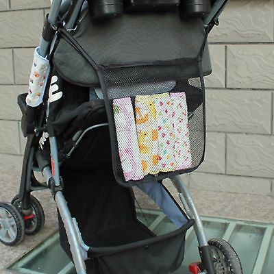 Baby Pram Stroller Mesh Organiser Caddy Diaper Organizer Storage Hanging Holder