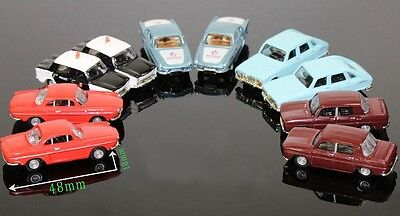 New 10PCS TT/HO Diecast Metal Cars 1:100-1:87 Great Detail