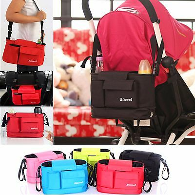 Baby Pram Stroller Organiser Travel Car Nappy Diaper Bag Caddy Organizer Hanging