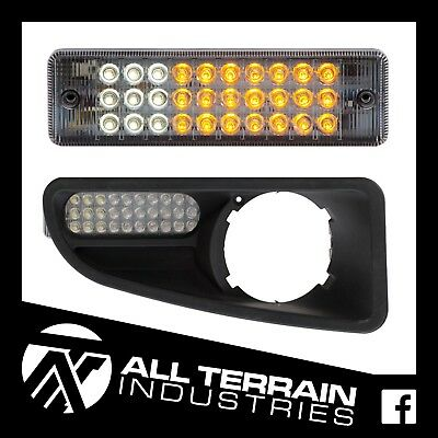 2 X Led Bull Bar Front Parker Indicator Lights Park Lamp - For Nissan & Arb Bars