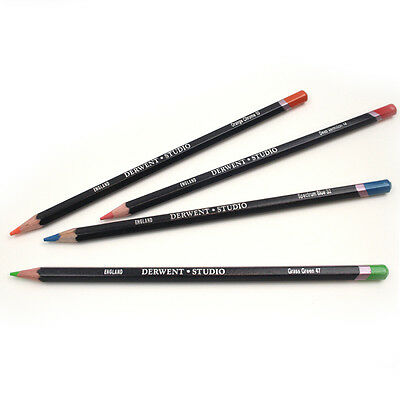 Derwent Studio Professional Quality Single Pencils - 72 Colours Available 1/2