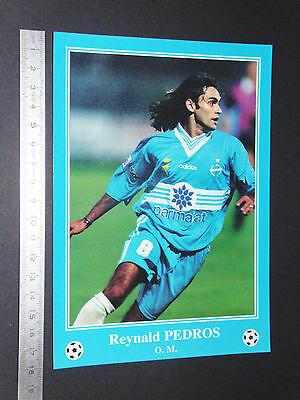 Rare Reynald Pedros Olympique Marseille Om Football Cpa France 1996-1997