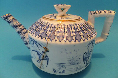 Antique Mid 19th Century Chinese Damaged Blue and White Teapot