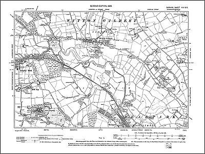 West Herrington old map Durham 1898: 13NE Painshaw Washington Offerton S