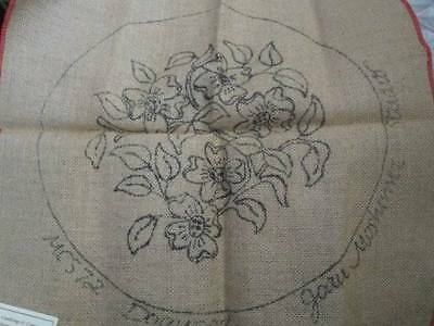 Dogwood Rug Hooking Burlap Canvas 15 Inches Diameter-Joan Moshimer