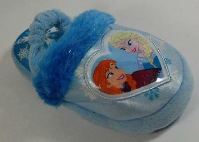 NEW Girls Toddler DISNEY FROZEN Blue Comfort Indoor Fashion Casual Slippers Shoe