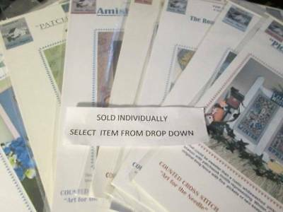Linda Myers Cross Stitch CHART Your Choice- Needlework Series/Amish Collection/Q