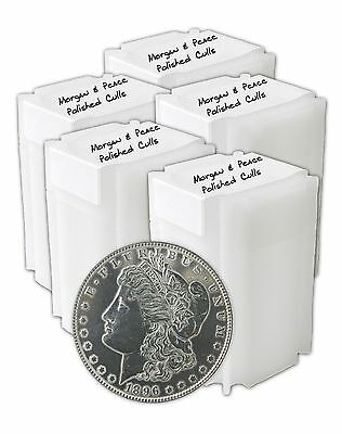 Silver Morgan and Peace Dollar Polished Cull Lot of 100